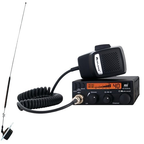 MIDLAND CB RADIO W/WEATHER SCAN AND WINDOW MOUNT ANTENNA