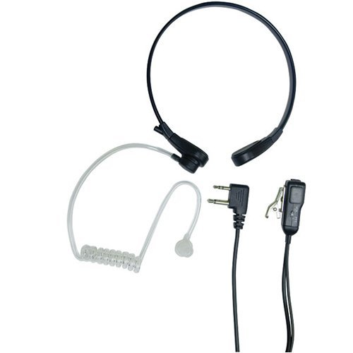 MIDLAND AVPH8 2-Way Radio Accessory (Acoustic Throat Microphone for GMRS Radios with PTT/VOX Compartment)