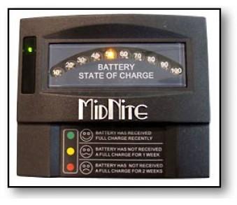 MIDNITE, MNBCM, VOLTMETER, BATTERY CAPACITY METER 12-48V