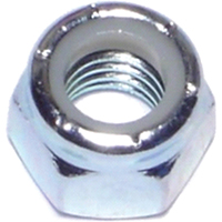 Midwest 03651 Hex Locknut, 3/8-16, Nylon Insert, Zinc Plated