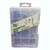 Midwest 14993 Assorted Handyman Fastener Kit, 336 Pieces