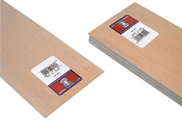 BALSA SHEET 1/16 X 4X36IN 20PK