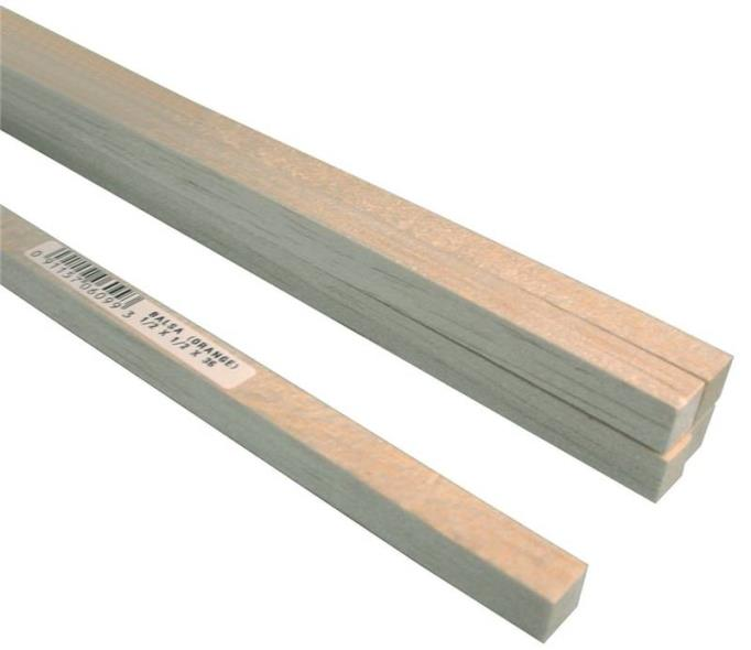BALSA STRIP 1/2X1/2X36IN 9PK
