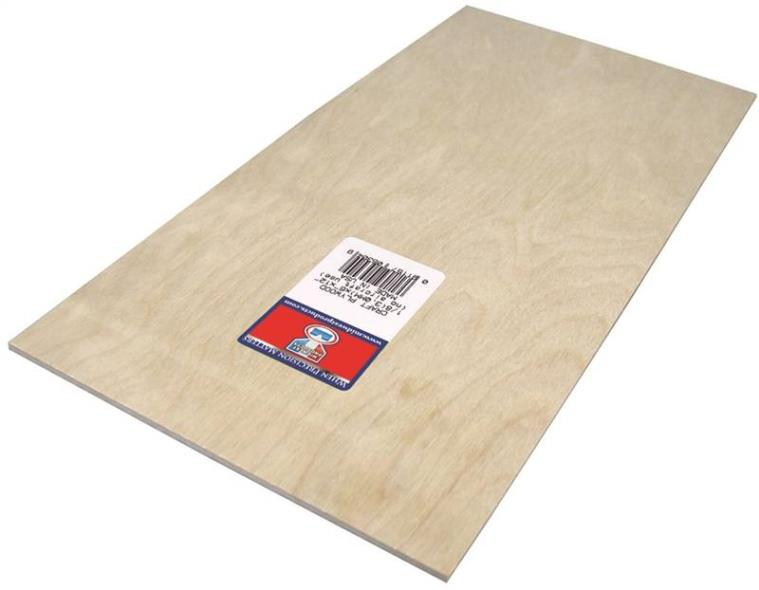 PLYWOOD CRAFT 1/8 X 6X12IN 6PK