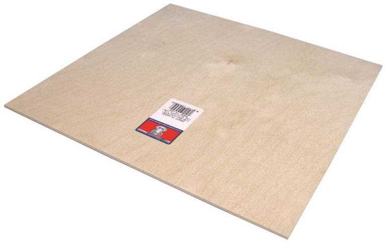 PLYWOOD CRAFT 1/8 X12X12IN 6PK