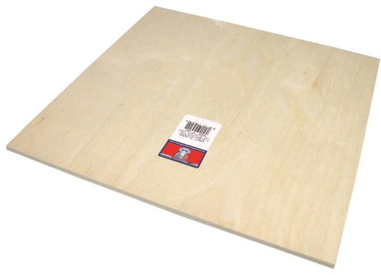 PLYWOOD CRAFT 1/4 X12X12IN 6PK