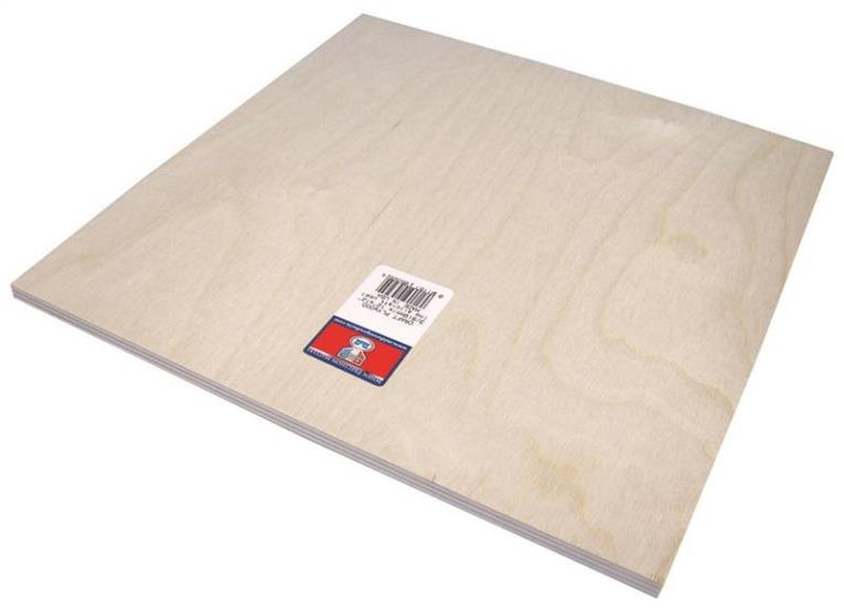 PLYWOOD CRAFT 3/8 X12X12IN 3PK
