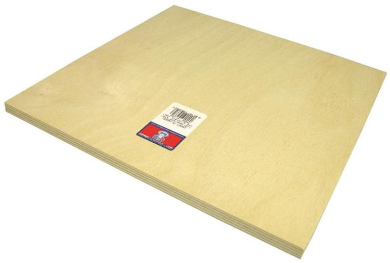 PLYWOOD CRAFT 1/2 X12X12IN 3PK