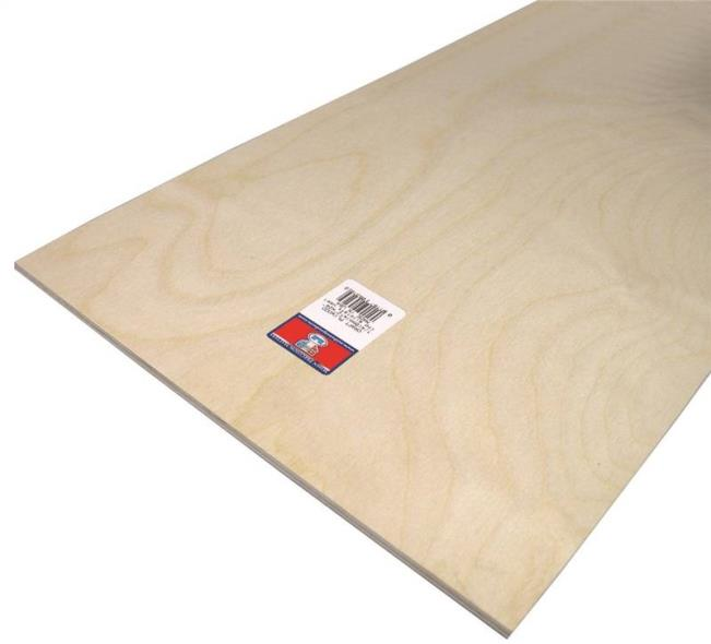 PLYWOOD CRAFT 1/4 X12X24IN 6PK