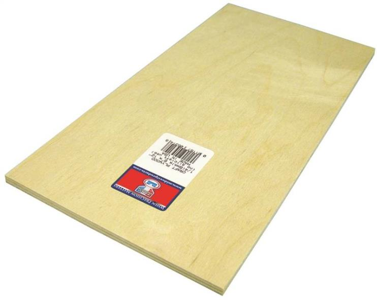 PLYWOOD CRAFT 1/4 X 6X12IN 6PK