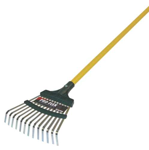 "KENYON PRO-FLEX LEAF RAKE, 8"" WITH 48"" ALUMINUM HANDLE"
