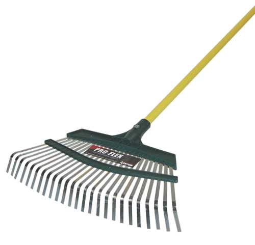 "KENYON PRO-FLEX LEAF RAKE, 18"" WITH 48"" ALUMINUM HANDLE"