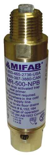 "MIFAB� M-500 PRESSURE DROP ACTIVATED TRAP SEAL PRIMER FOR UP TO 6  FLOOR DRAIN TRAPS, 1/2"" CONNECTIONS"