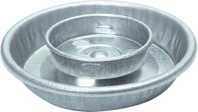 1 Quart Round Metal Watering Base