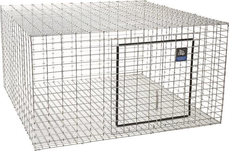 Miller AH2424 Rabbit Hutch, 24 in L X 16 in W X 24 in H, Chew Proof Galvanized Steel Wire Mesh