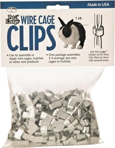 Miller ACC1 Ferrule Cage Clip, For Use With Pet Lodge Wire Clip Pliers, Metal