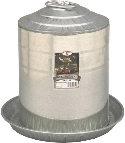 5 Gallon Double Wall Poultry Fountain