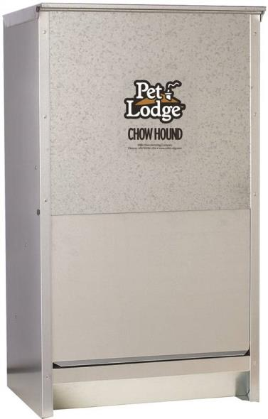 Pet Lodge CH50 Chow Hound Dog Feeder, 50 lb Capacity, 16-1/4 in W X 12 in L X 28-1/4 in H, Steel