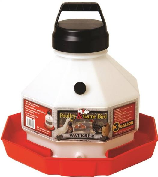 3GAL PLASTIC POULTRY WATERER