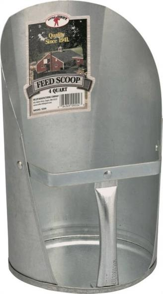 SCOOP FEED GALV MILLER 4QT