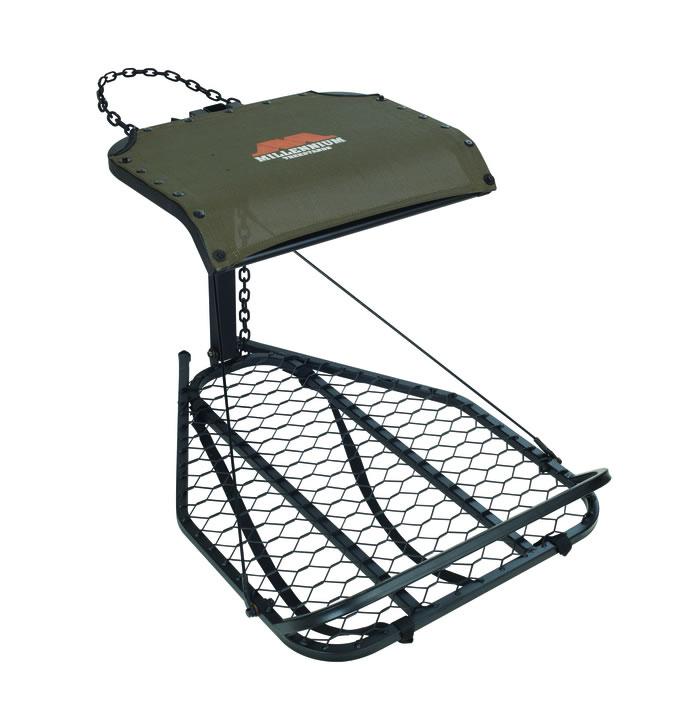 MIllennium M25 Steel Hang-On Tree Stand W/Footrest Includes Safe-Link 35' Safety Line