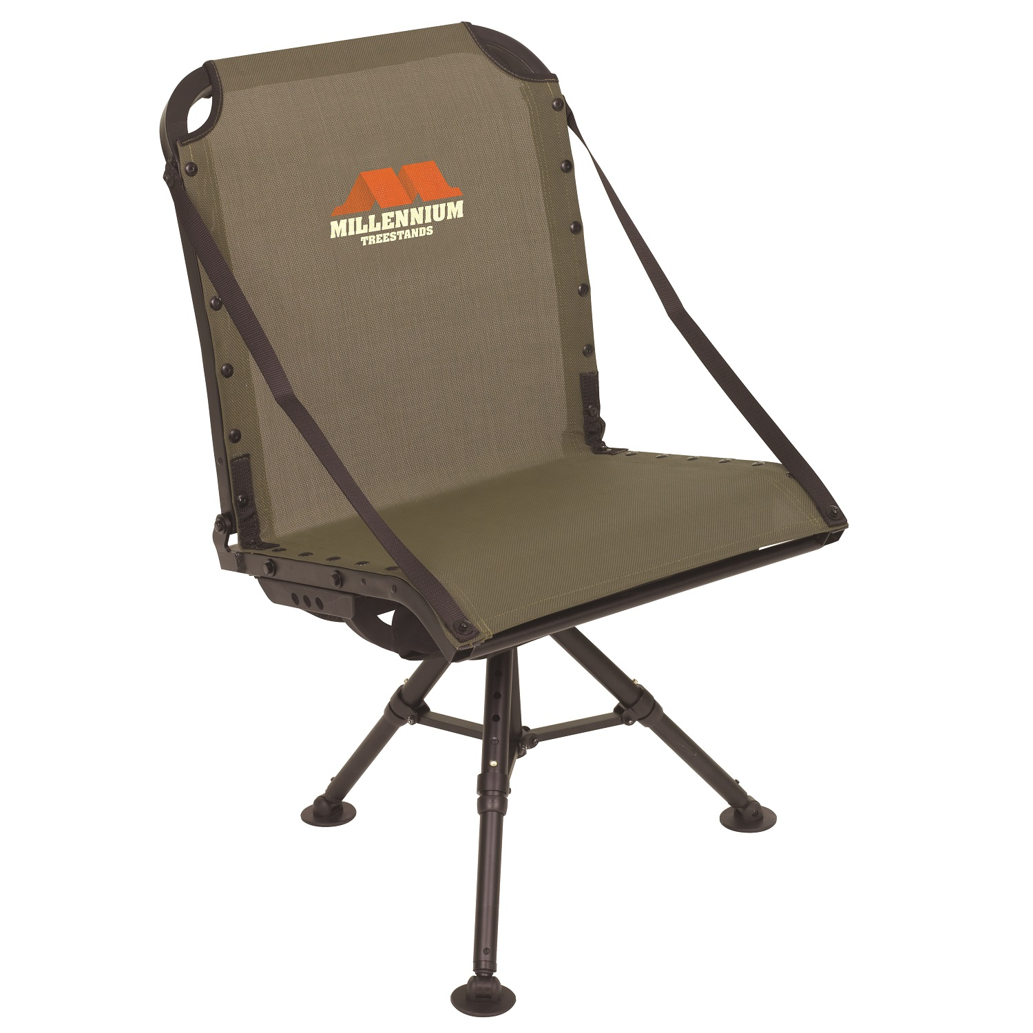 Millennium Tree Ground Blind Shooting Chair with packable Leveling Legs