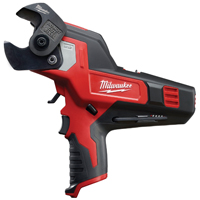 Milwaukee M12 Cordless Cable Cutter, 10-1/2 in L, 12 V Lithium Ion Battery, 600 MCM Copper, 750 MCM Aluminum, Red