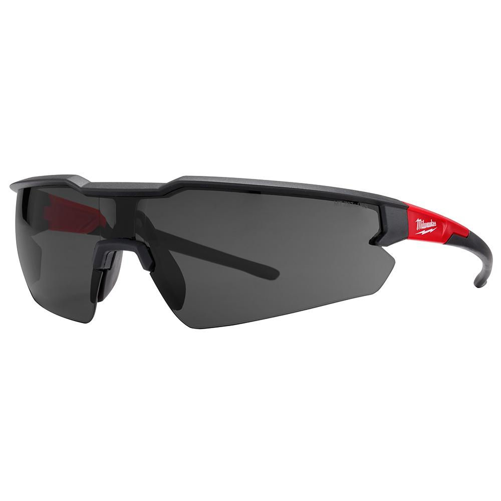 GLASSES SFTY RED/BLK FRM TNTD
