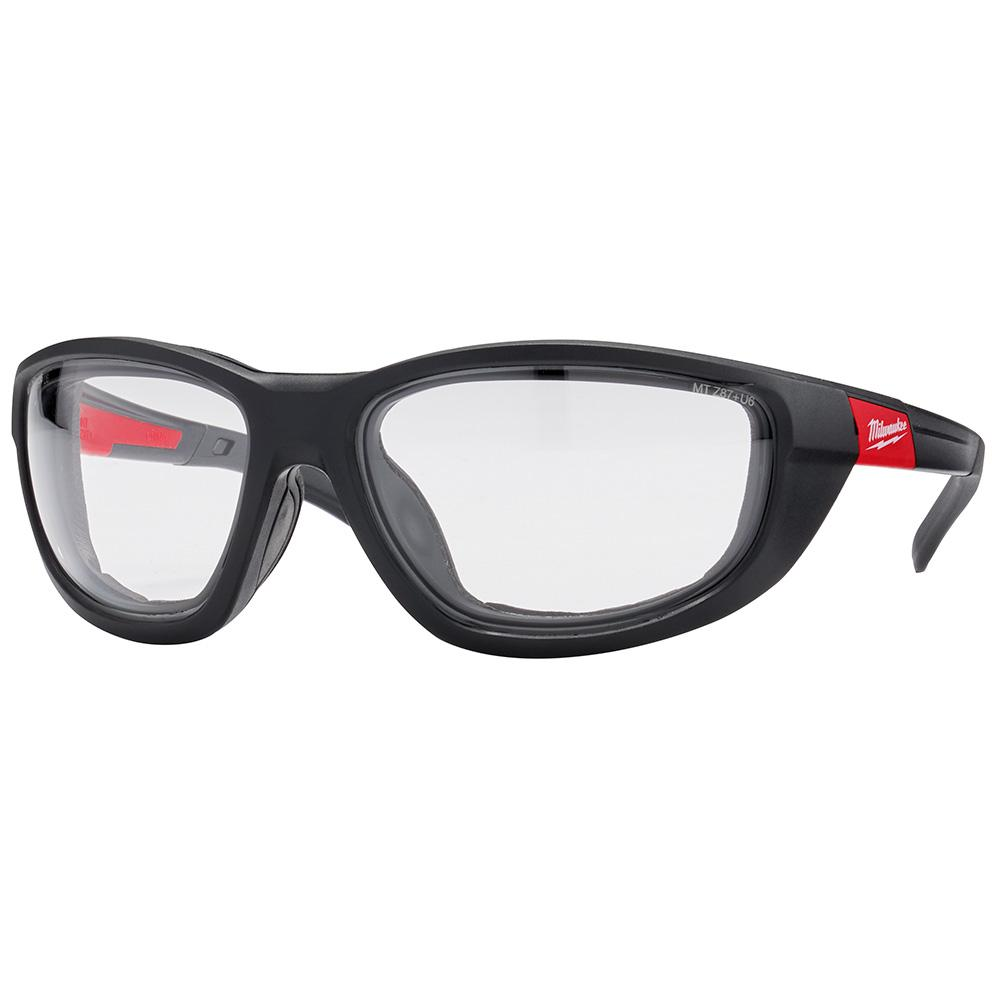 GLASSES SAFETY W/GASKET CLEAR