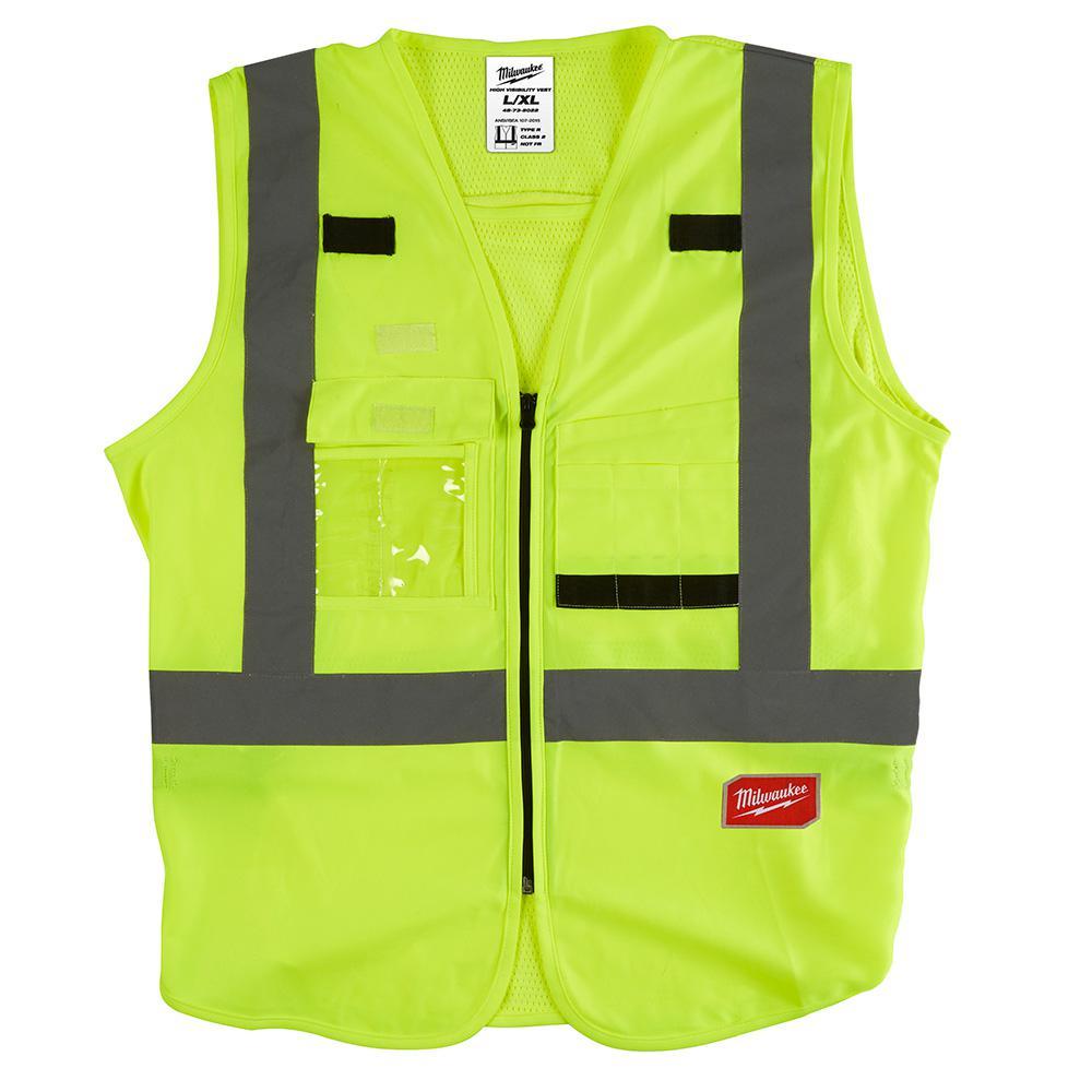 VEST SAFETY HIGH VIS YEL L/XL