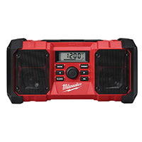 Milwaukee 2790-20 Jobsite Radio, 10 Channel, LCD Display