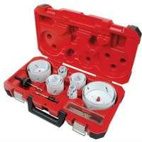 Ice Hardened 49-22-4105 Bi-Metal Electrician Hole Saw Kit, 19 Pieces
