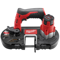 Milwaukee 2429-20 Sub-Compact Cordless Band Saw With Light, 12 V, Lithium-Ion, 0 - 280 spm