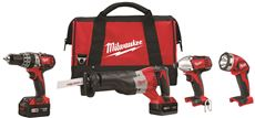MILWAUKEE M18� 4 TOOL COMBO KIT
