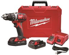 MILWAUKEE� M18� COMPACT DRILL DRIVER KIT, 1/2 IN.