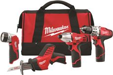 MILWAUKEE M12� CORDLESS LITHIUM-ION 4-TOOL COMBO KIT