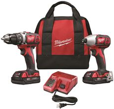 MILWAUKEE� M18� LITHIUM-ION CORDLESS DRILL DRIVER & IMPACT DRIVER COMBO KIT