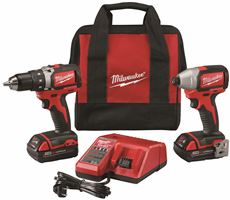 MILWAUKEE� M18� LITHIUM-ION CORDLESS COMPACT BRUSHLESS DRILL DRIVER & IMPACT DRIVER COMBO KIT