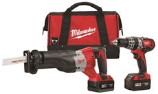 MILWAUKEE M18� CORDLESS LITHIUM-ION 2-TOOL COMBO KIT (COMPACT HAMMER DRILL/SAWZALL�) WITH TWO BATTERIES
