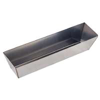 MintCraft C052253L Drywall Mud Pan, 14 in L, Stainless Steel