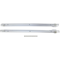 Mintcraft R684-24 Self-Closing Drawer Slide, 24 in L, 75 lb, Stamped Steel, White