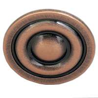 KNOB CABINET 1-3/8IN ANT COPPR