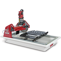 MK Diamond 159943 Heavy Duty Corded Tile Saw, 120 V, 7.4 A, 1-1/4 hp, 7 in Blade, 6000 rpm