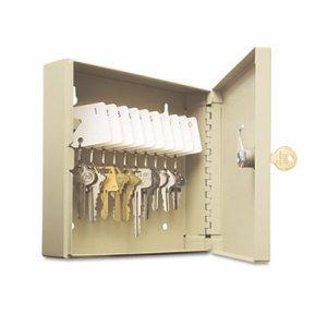 Uni-Tag Key Cabinet, 10-Key, Steel, Sand, 6 7/8� X 2� X 6 3/4�