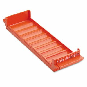 Porta-Count System Rolled Coin Plastic Storage Tray, Orange