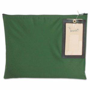 Cash Transit Sack, Nylon, 14 x 11, Dark Green