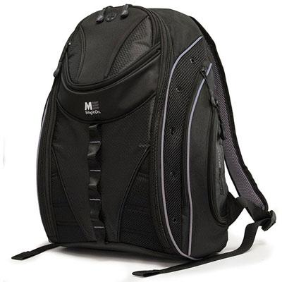 "MOBILE EDGE MEBPE22 16"" PC/17"" MacBook Express 2.0 Backpack, Black/Silver"