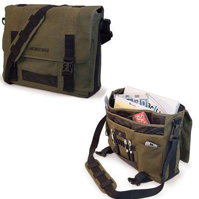 "MOBILE EDGE MEUME9 14.1"" PC/15"" MacBook Pro ECO Ultrabook Messenger Bag (Olive)"