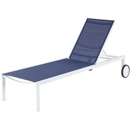 Aluminum Sling Armless Chaise Lounge Chair