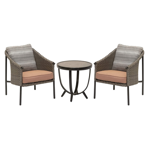 Santa Fe 3pc Set: 2 Bucket Chairs with Side Table